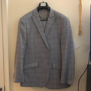 Other - Grey Plaid Suit (Never Worn)